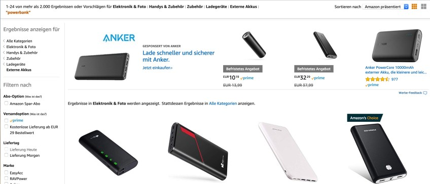 Amazon Powerbank