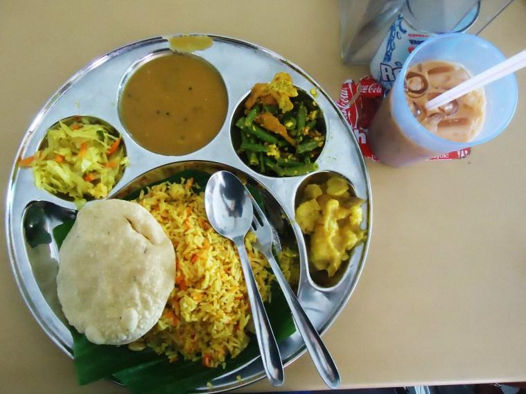 Vegetarian Indian platter