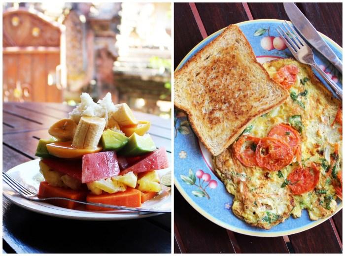 Hotel breakfast - Ubud, Bali, Indonesia