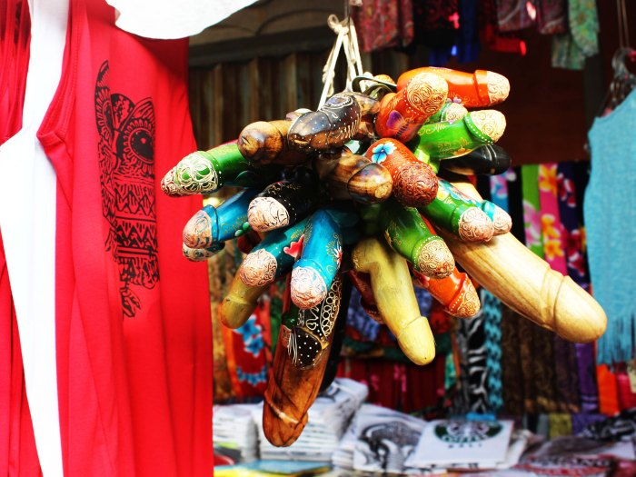 Penis souvenirs - Kuta Beach, Bali, Indonesia