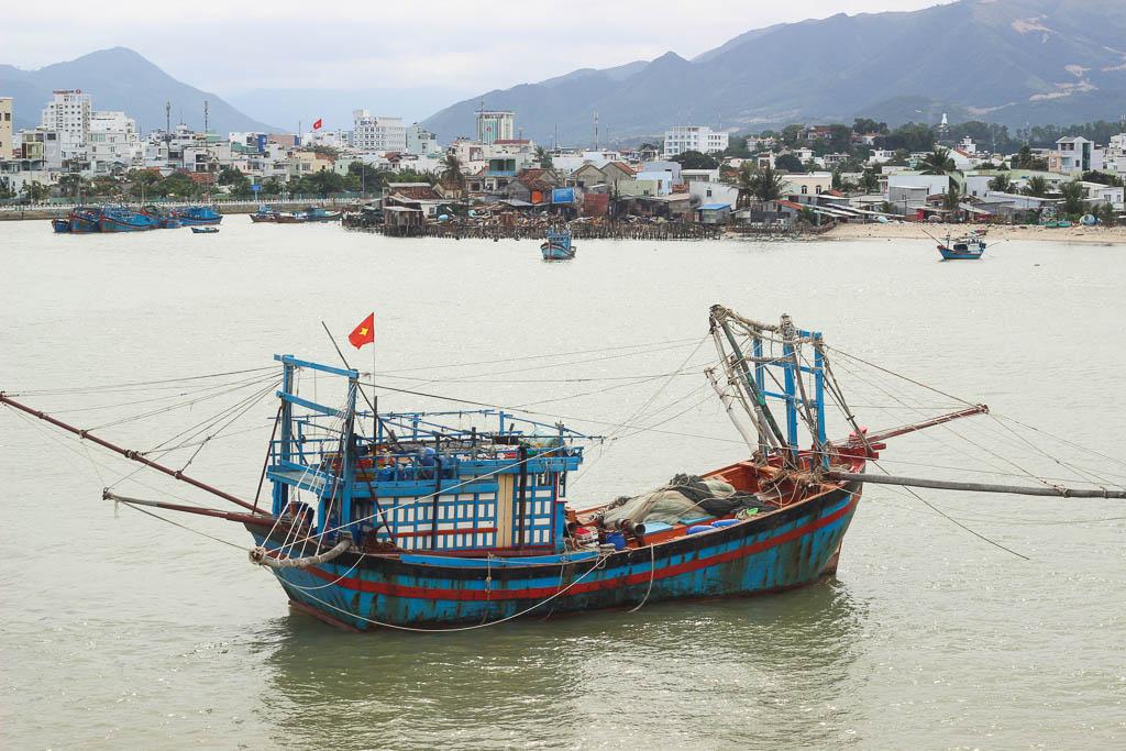 Boats in Nha Trang, Vietnam