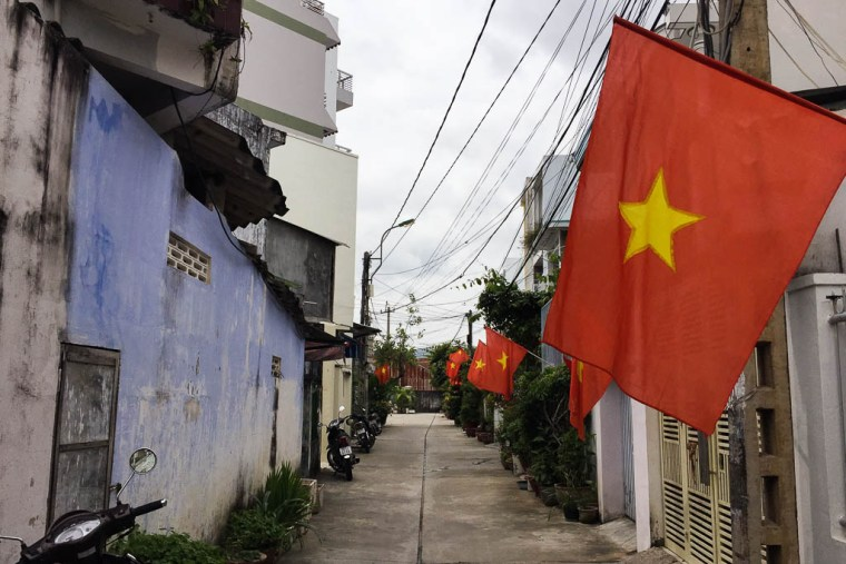 Vietnamese Flags - Nha Trang, Vietnam