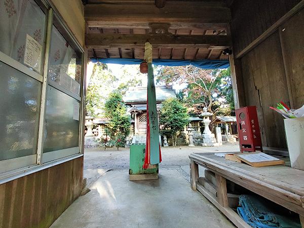 蟹井神社の鈴緒