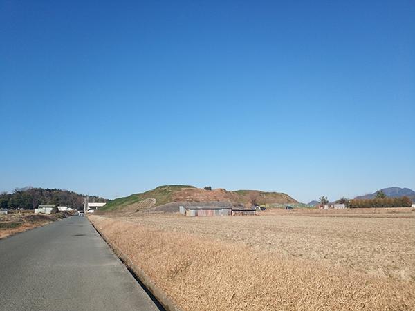 寛弘寺古墳群の遠景