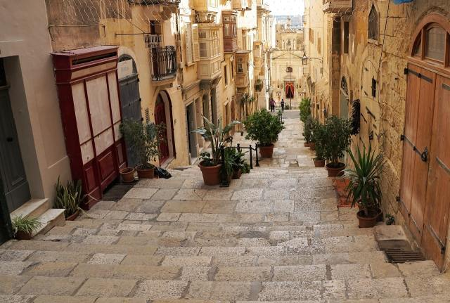 Уютные улочки Валетты, Мальта.