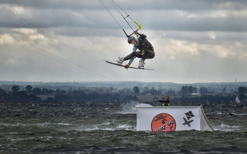 kiteboarding kitesurfing kite park kicker event competition hel flyn bay bash poland