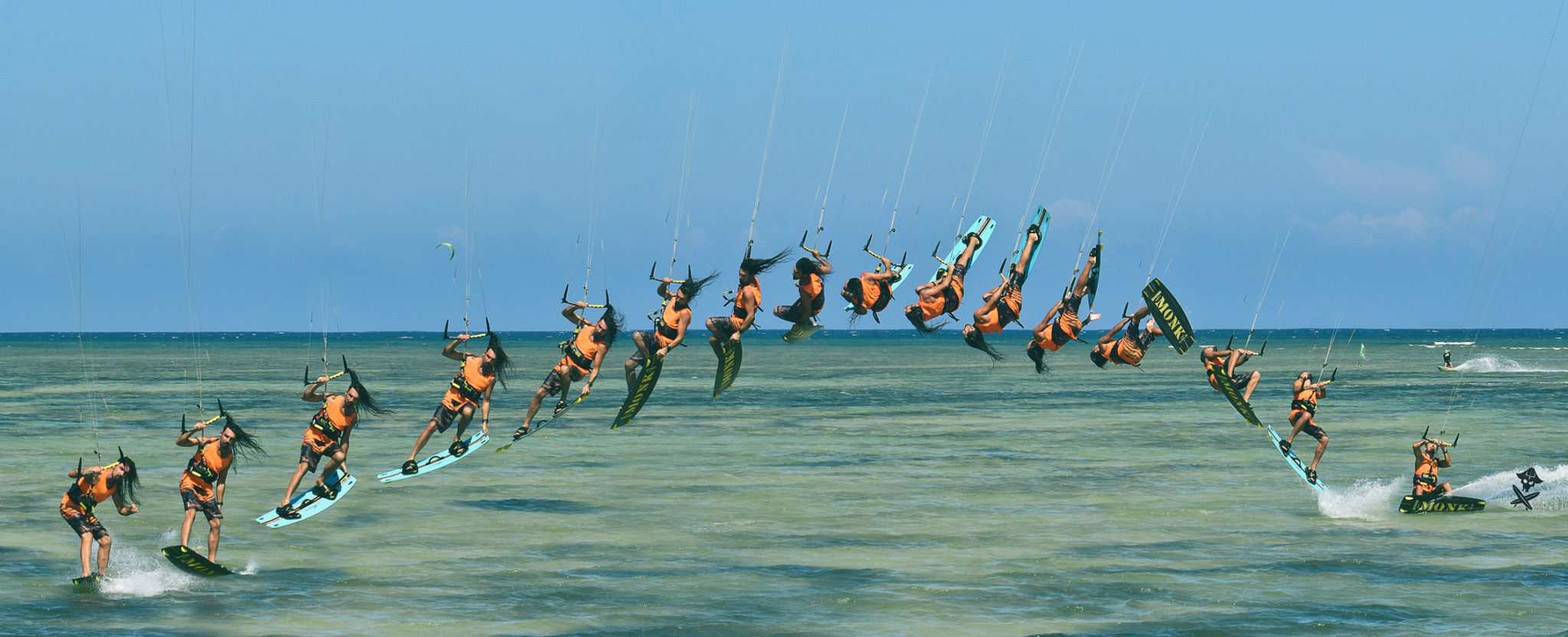 inverted frontroll with tail grab kitesurfing tricks