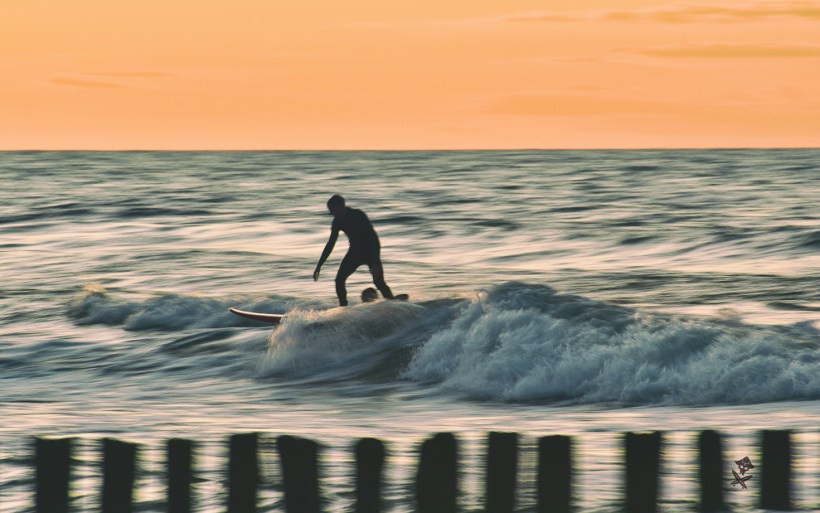long exposure sunset surf photography baltic poland