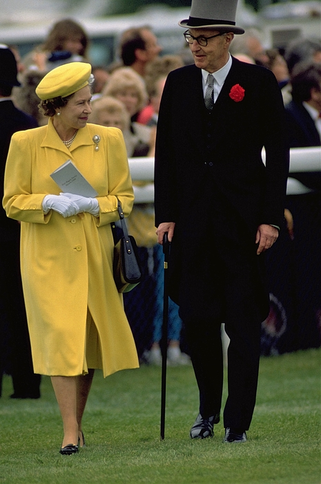 Queen Elizabeth II at The Derby in 1988
