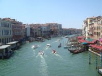 The view from Ponte Rialto, Venezia, Italy