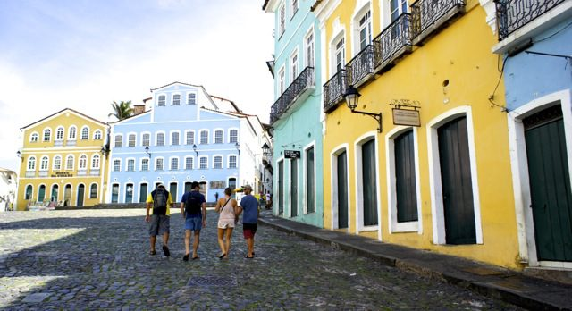 The pretty streets of Salvador's historic district