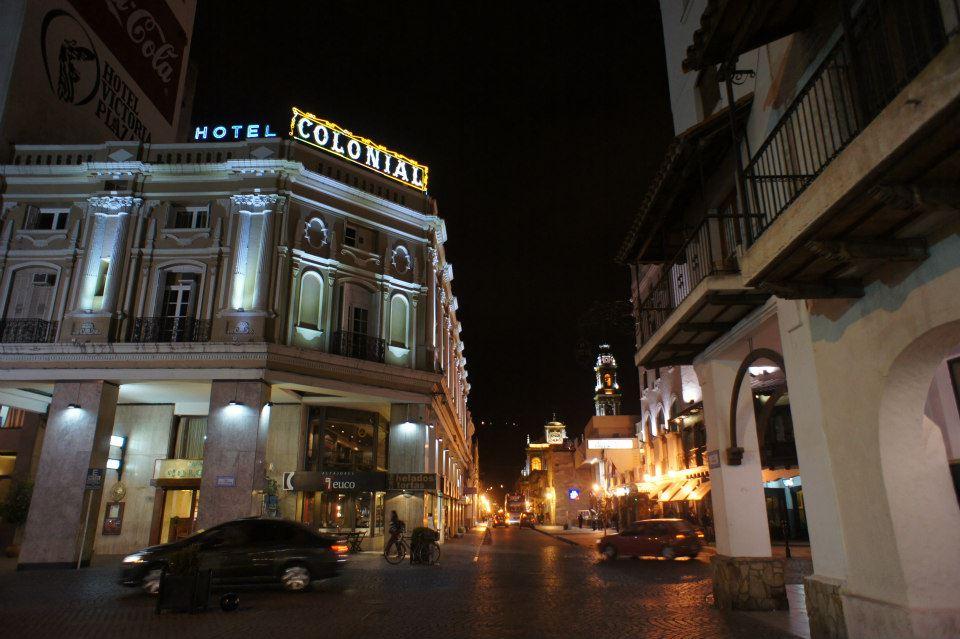 Beautifully lit buildings everywhere