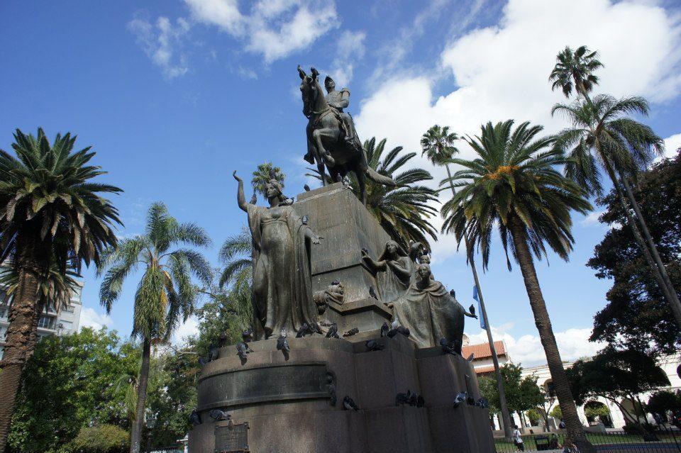 Statues in Salta's Main Square