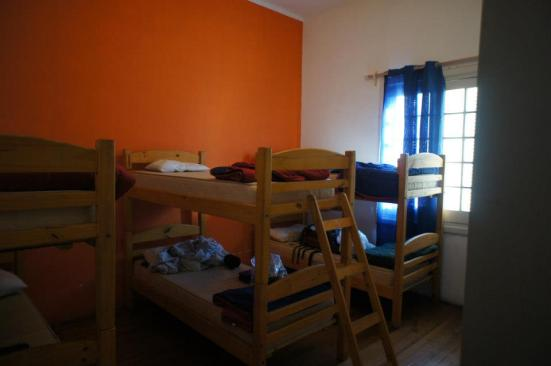 Bright and spacious dorm rooms at Pocitos Hostel