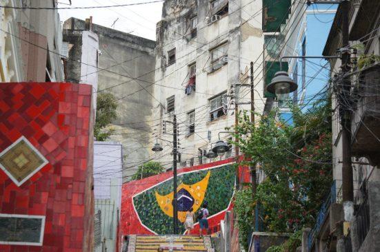 Brazil Flag Escadaria
