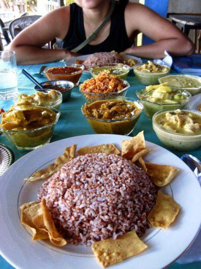 A feast of curry in Unawatuna