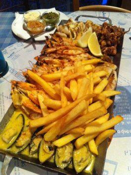 An Ocean Basket seafood platter