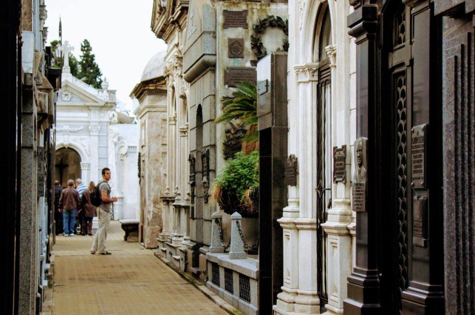 streets of la recoleta cemetery