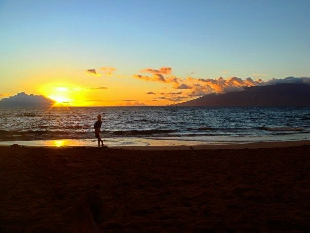 Stunning sunset on Maui's Big Beach