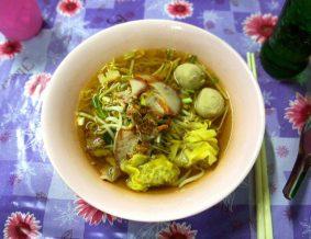 Delicious noodle soups for 35 baht