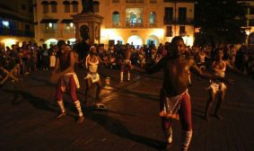 Dance performances inside Cartagena