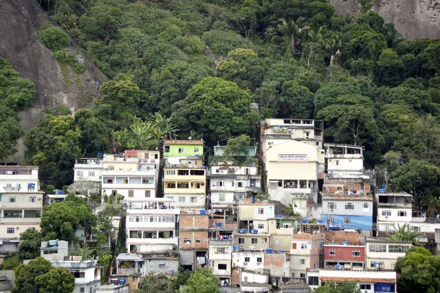 A favela nestled in nature