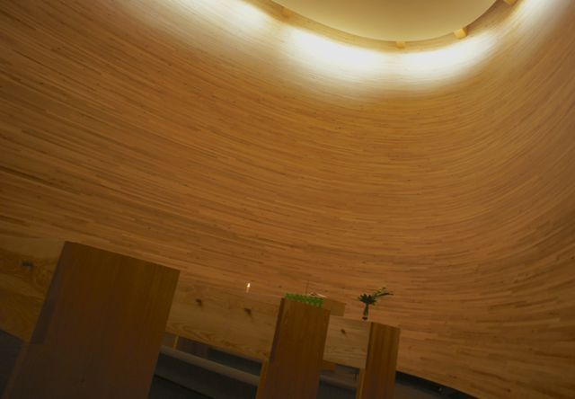 Inside the Kamppi Chapel