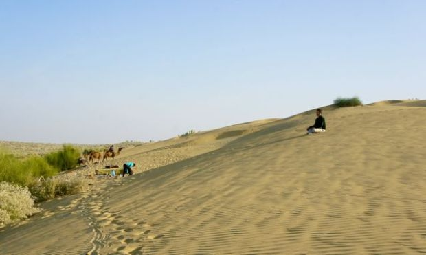 On the sand dunes of Jaisalmer, India