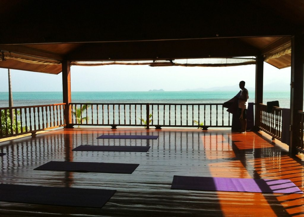 Yoga sala and massage area