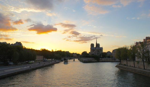Sunset over the Seine