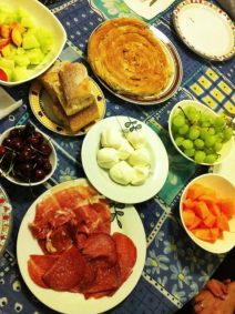 An Mediterranean spread at Agri's mom's house