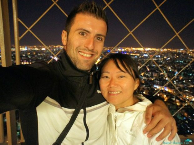 Feeling super blessed at the top of the Eiffel Tower