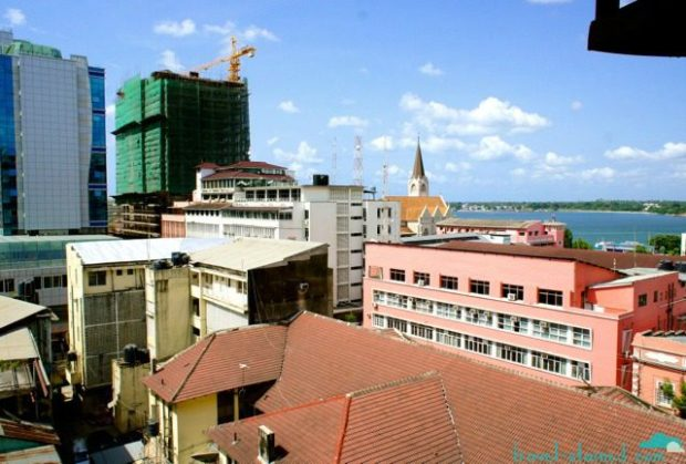 Dar's skyline from the safety of the hotel room