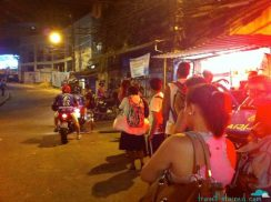 The line up for the motorcycle taxi