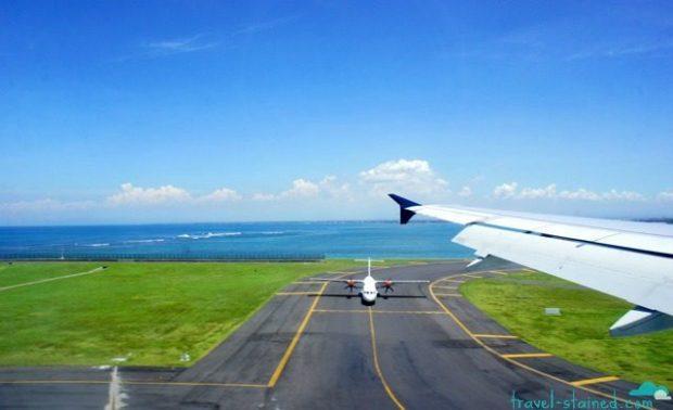 Landing at Denpasar