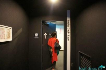 Entering the Ladies Capsule Room area