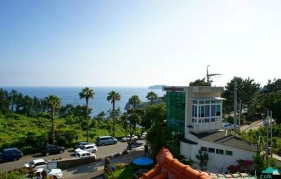 Gorgeous view from our pension's balcony