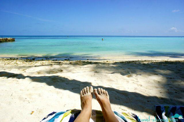 Loving life on a perfect Maafushi beach