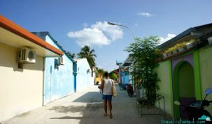 The streets of Maafushi