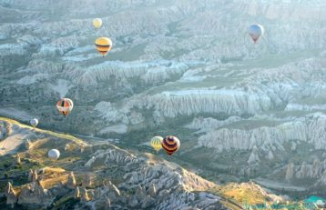 The fascinating landscapes of Cappadocia from above