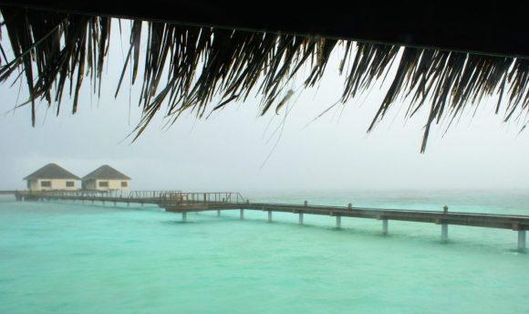 rainy day in the maldives