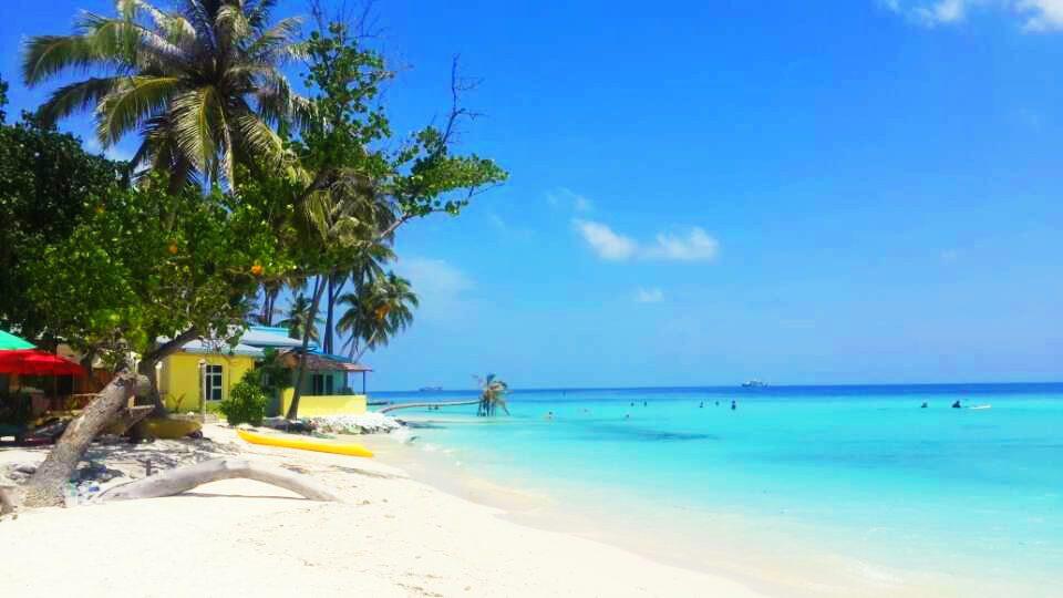 bikini beach, maafushi, maldives