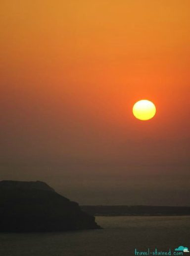 The famous Santorini sunset