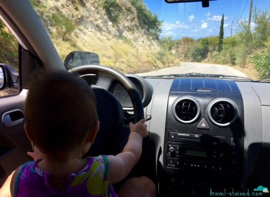 Naia is already a better driver than Daddy