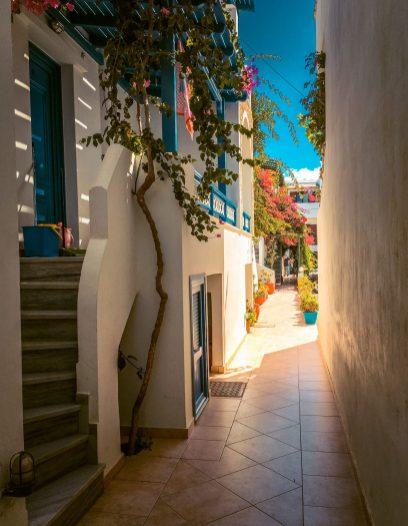 buildings on naxos, greece