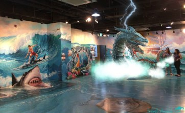 In the Water Zone, the entire room is an optical illusion with AR