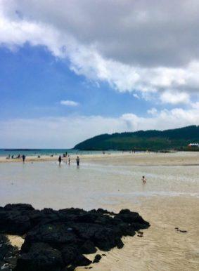 Hamdeok Beach at low tide