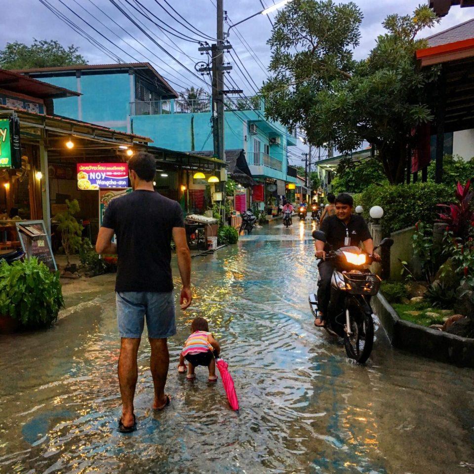 koh lipe flooded streets in september