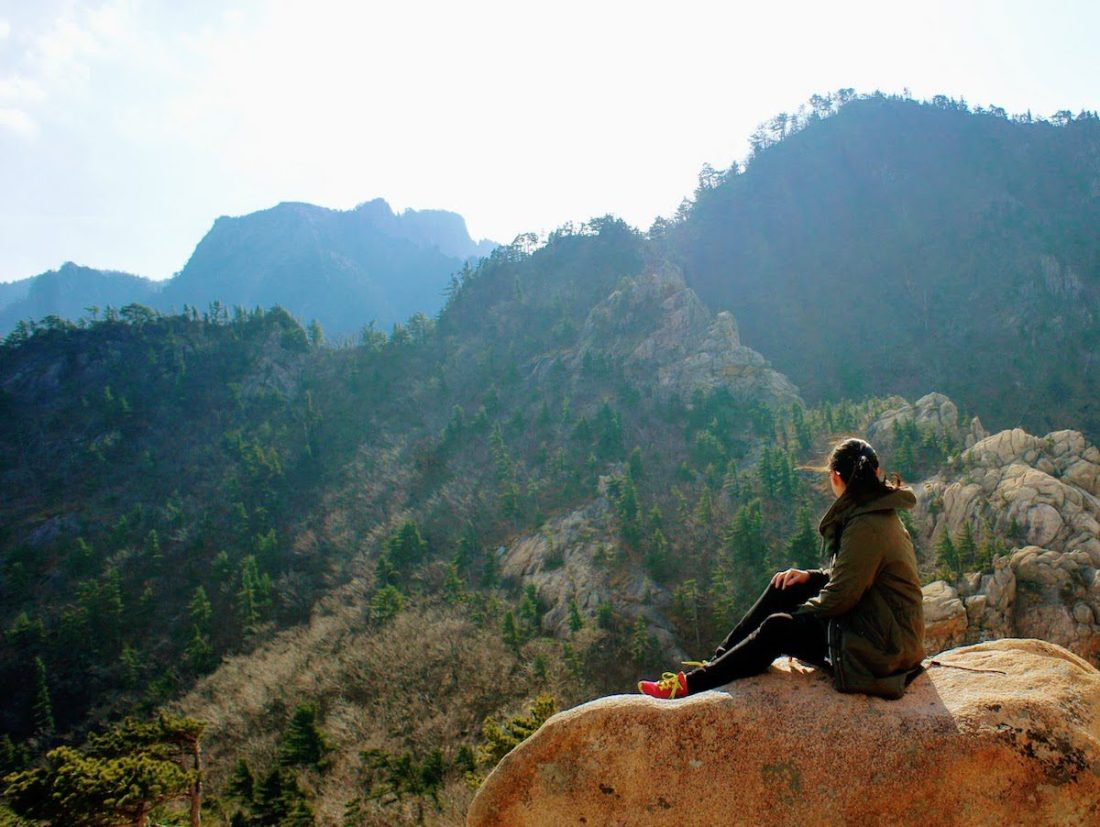introvert looking out over seoraksan
