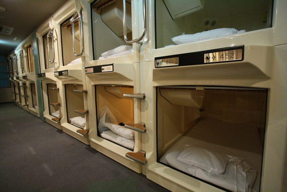 haneda capsule hotel japan